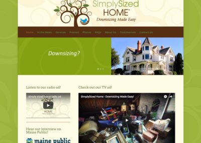 SimplySized Home website